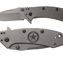 Us Marshal Engraved Kershaw Cryo 1555Ti Folding Speedsafe Pocket Knife By Ndz Performance