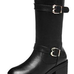 Guciheaven British New Style With Velvet Buckle Martin Boots(8.5 B(M)Us, Black)
