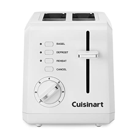 The classic toaster gets a modern update with the Compact toaster by Cuisinart. It saves space, placed sideways or facing forward, to fit any kitchen counter. Whether making thick bagel halves or thin sliced breads, the wide slots, high-lift carriage...