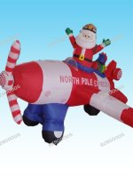 Inflatable Santa Claus Flying Airplane