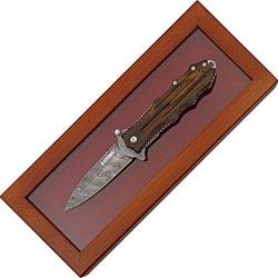 Blackhawk Mod Sfk Special Edit Folding Knife,3.875In,Damascus Steel Dagger Style 15Sf00Ld