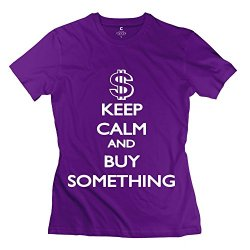 Aopo Keep Calm Buy Something T-Shirts For Womens
