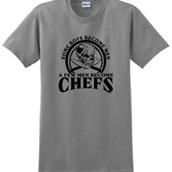 Created Equal, Some Boys Become Men Chefs T-Shirt 2Xl Sport Grey