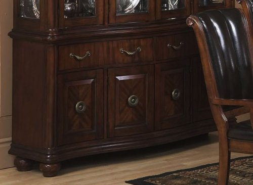 Image of Buffet with Traditional Style Design in Dark Walnut Finish (VF_AP-351-4)