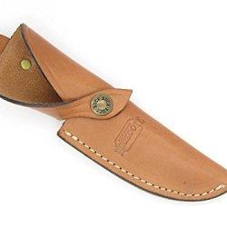 Buckcote Buck 191 192 691 692 Vanguard Zipper Brown Leather Fixed Knife Sheath - Rare Made In Usa
