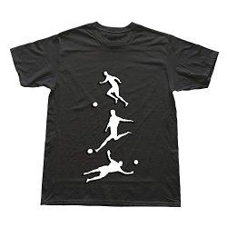 Goldfish Men'S Cool Style Brand Fussball Kuenstlerisch 3 Mal 2 Farbig T-Shirt Black Us Size Xxl