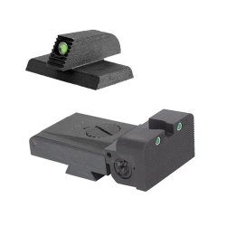 "Lpa Trt Kensight 1911 Sight Set Trijicon Tritium Insert - Night Sights With Rounded Blade - 0.200"" Tall Front Sight"