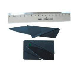 Moda Seya Credit Card Folding Safety Knife (Black) 24Pcs