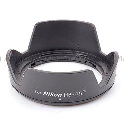 Generic Hb-45 Ii Bayonet Mount Lens Hood For Nikon Af-S Dx Nikkor 18-55Mm F/3.5-5.6G Vrlens