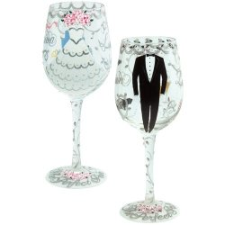 Santa Barbara Design Studio Setw-5522A Lolita Love My Wine Glass, Bride And Groom, Set Of 2