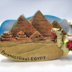 Piramid Giza Egypt Souvenir Collectibles Hand Sculpting And Hand Painting Fridge Magnet Magnetic Cute Charm Gift 3D