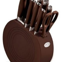 Fiesta Chocolate 11-Piece Cutlery With Block