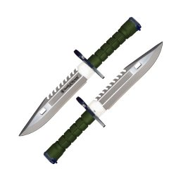 Smith & Wesson Special Forces M9 Bayonet, Green Handle, Green Sheath