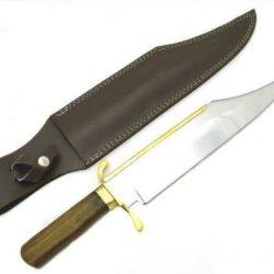 18-1/2 Inch Bowie Knife W/ Custom Leather Sheath