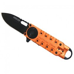 "New Orange 6 1/4"" Mini Folding Spring Assisted Knife With Clip"