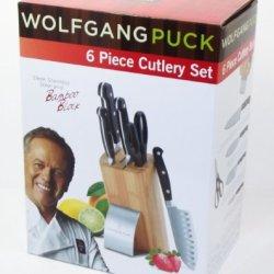 Wolfgangpuck 6 Piece Cutlery Set, Black