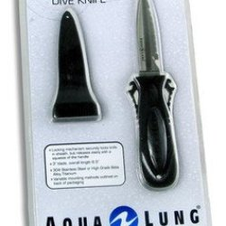 Deep See By Aqua Lung Squeeze Lock Knife And Sheath (Titanium)
