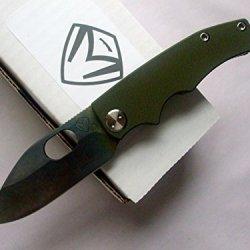 Medford Knife And Tool 187 Rmp Ramp Nose Tactical Folder Knife Od G-10/Tumbled Titanium Handles Vulcanized Blade
