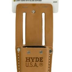 Hyde Tools 42525 Heavy-Duty Leather Angle Head Utility Knife Pouch For 42080