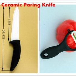 """New Arrival! 6"""" 15Cm Chef Kitchen Ceramic Knife+Ceramic Sharpener With Abs Comfortable Handle By Coolshiny"""