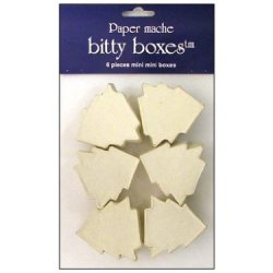 Paper Mache Box Bitty Tree Vanilla 6Pc By Craft Pedlars