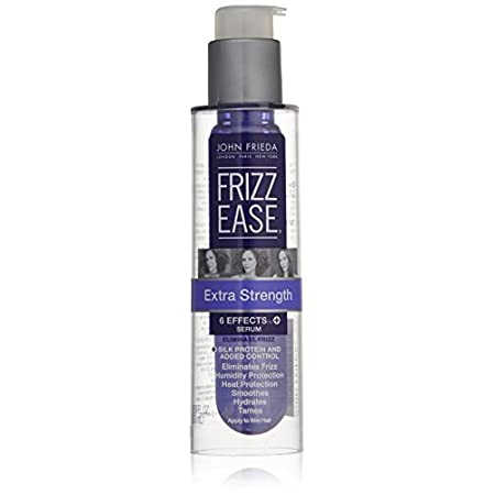 Frizz-ease extra strength serum instantly and dramatically transforms coarse, wiry, unruly frizz for ultra-sleek, purely polished, super-shiny results. It protects and prolongs the life of color treated hair. It has a high-potency blend of silicones ...