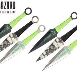 9 Inch 6Pcs Set Zombie Throwing Knife Biohazard A8011-6-Astd