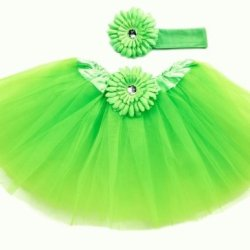 Lime Green Tutu With Headband (Size 2-4)