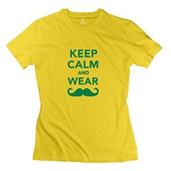 Aopo Keep Calm Wear Mustache T Shirt For Womens