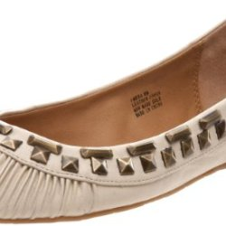 Kelsi Dagger Women'S Emera Flat,Cream Leather,5.5 M Us