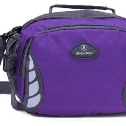 American Shield Travel Gear Swiss Style Small Single Shoulder Bag. For Wallet Credit Card, Watch.Outdoor Exercise Sport Pocket Purse Passport Cover.Ag-Qg9-C4 Purple