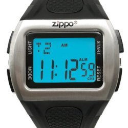 Zippo Contemporary Digital Sports Watch With Black Polyurethane Strap