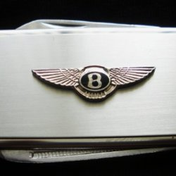 Bentley Silver Stainless Steel Money Clip With Knife & Nailfile In Body Of Clip