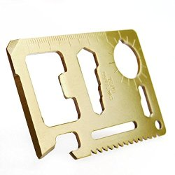 New Bronze Mini Multi-Function Tool Card Multipurpose Pocket Survival Tool Saw Blade
