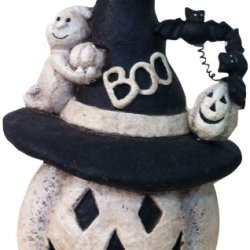 Craft Outlet Paper Mache White Ghost Figurine, 4.5 By 3.5 By 7-Inch, White