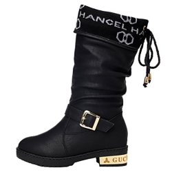 Guciheaven Winter New Style Prada Fishion Martin Boots(7.5 B(M)Us, Black)