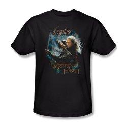 The Hobbit - Men'S T-Shirt Legolas With Knives, Xl, Black