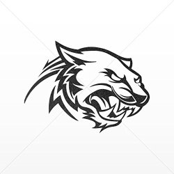 Sticker Decal Panther Cougar Head Decoration Bike Motorbike Bicycle Ve Mettalic Black (30 X 22.1 In)