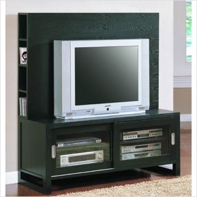 Image of 8028 Series Plasma TV Stand in Black (8028-T)