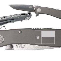 Tx Texas Flag V1 Custom Engraved Sog Twitch Ii Twi-8 Assisted Folding Pocket Knife By Ndz Performance