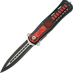 Szco Supplies 300288-Ff Assisted Opening Firefighter Knife, Red/Black