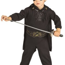 Zorro Romper And Headpiece Costume, 0-9 Months