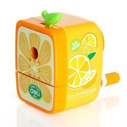 [Official Shop] Bxt Fruit Series Pencil Sharpener Portable Sharpen Pencil Tool School Things (Orange)