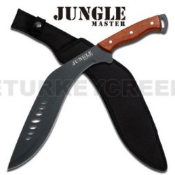 "Jm-028 19"" Full Tang D3L2Pyb Black Stainless Steel Machete Kukri Qkehqezjjj Knife Ayeuiu56 Hlbv23Rt Full Tang Black Stainless Steel Rvmmgb1R Jungle Machete Kukri Knifefeatures:19 Inch Overall In Lengthfull Ovcug Tang Black Stainless Steel Bladewood Handle"