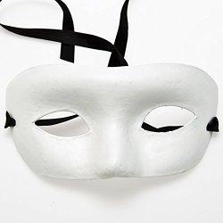 Paper Mache Half Masquerade Mask