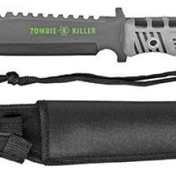 "13"" Zombie Killer Hunting Knife - Gray Handle"