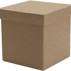 Dcc Paper Mache Tall Square Box, 3 By 3 By 3-Inch
