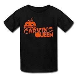 Lzf Boys Halloween Pumpkin Cotton T-Shirt Xs Black