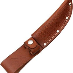 Sheath Fixed Knife Sheath, Brown Basketweave Leather,Fits Up To 4In Blade Sh1133/Sh206 Brown