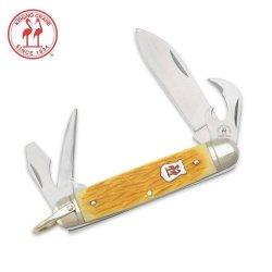 Kissing Crane Yellow Bone Boyscout Folding Knife